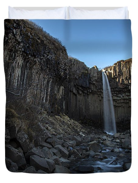 Black Waterfall Duvet Cover