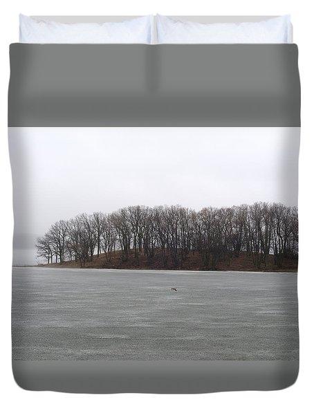 Black Winter Lace Duvet Cover