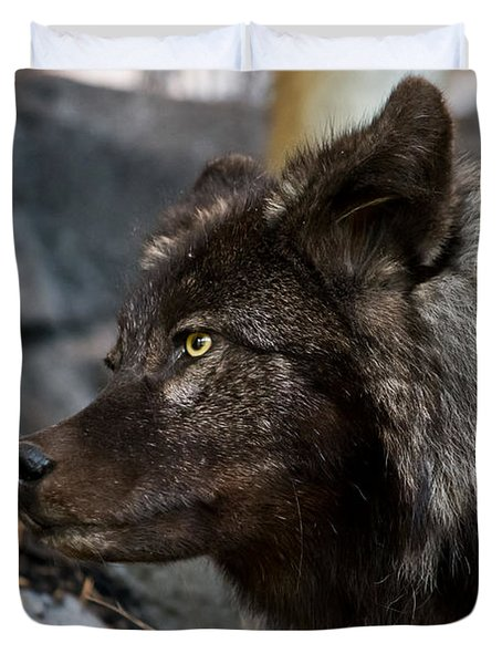 Black Wolf Duvet Cover