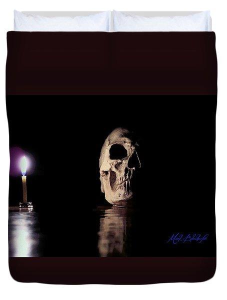 Blackbeard's Skull Duvet Cover by Mark Blauhoefer