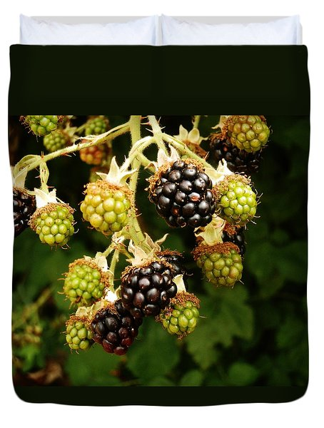 Blackberries Duvet Cover