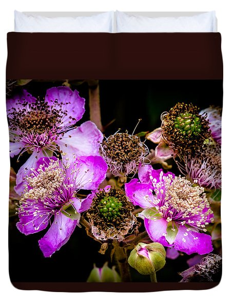 Blackberry Flower Duvet Cover