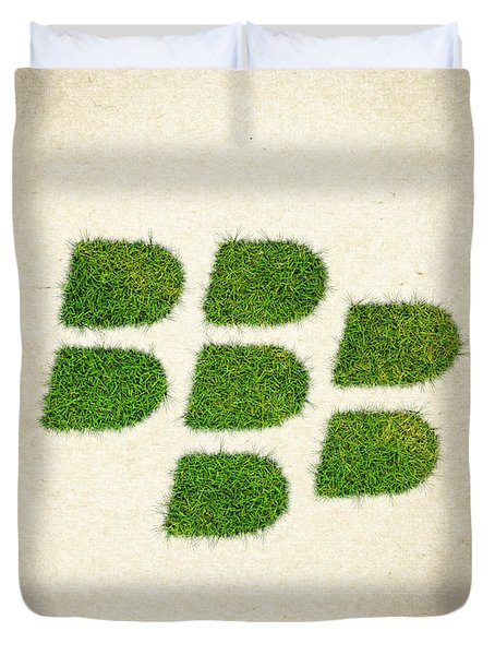 Blackberry Grass Logo Duvet Cover by Aged Pixel