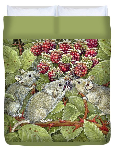 Blackberrying Duvet Cover by Ditz