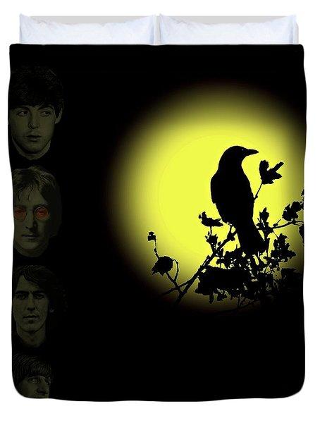Blackbird Singing In The Dead Of Night Duvet Cover