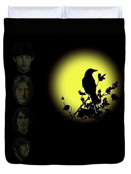 Blackbird Singing In The Dead Of Night Duvet Cover