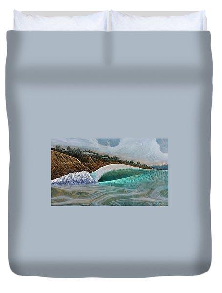 Blacks Beach Duvet Cover by Nathan Ledyard