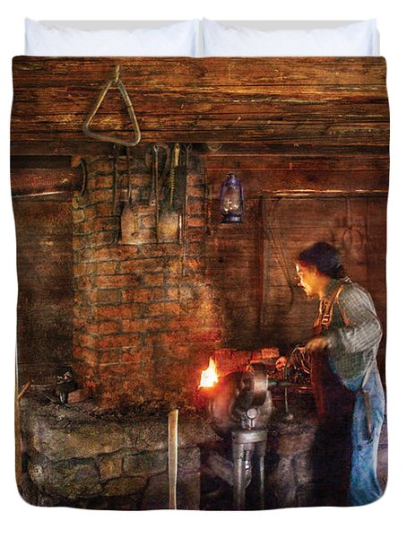 Blacksmith - Cooking With The Smith's  Duvet Cover by Mike Savad