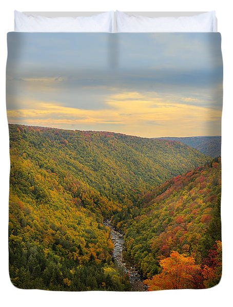 Blackwater Gorge With Fall Leaves Duvet Cover by Dan Friend
