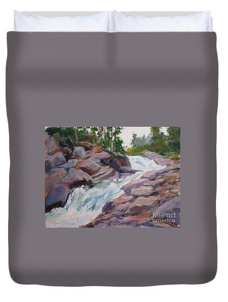 Blakiston Falls Duvet Cover by Mohamed Hirji