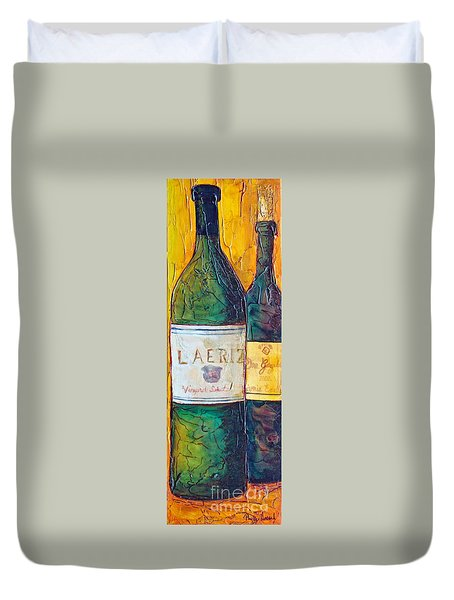 Duvet Cover featuring the painting Blanc De Blancs by Phyllis Howard