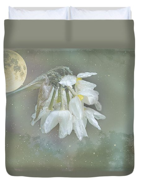Duvet Cover featuring the photograph Blanche by Elaine Teague