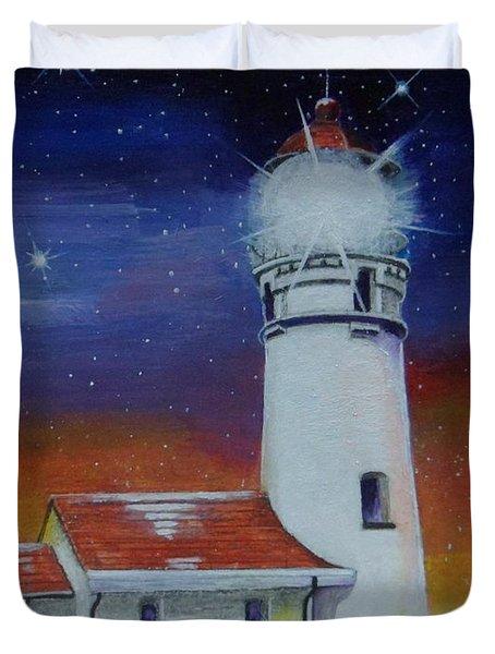 Blanco Lighthouse Duvet Cover