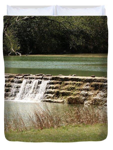 Blanco River Weir Duvet Cover
