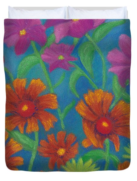 Blanket Flowers And Cosmos Duvet Cover