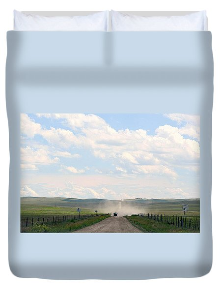 Blasingame Road Too Duvet Cover by Clarice  Lakota