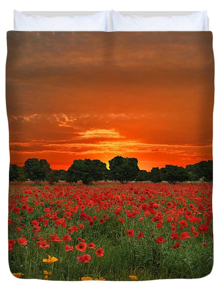 Blaze Of Glory Duvet Cover
