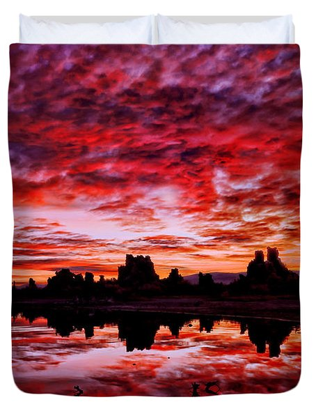 Blazing Dawn Duvet Cover