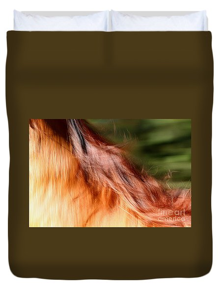 Blazing Fast Duvet Cover by Michelle Twohig