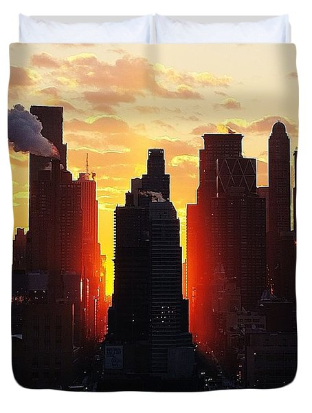 Blazing Morning Sun Duvet Cover