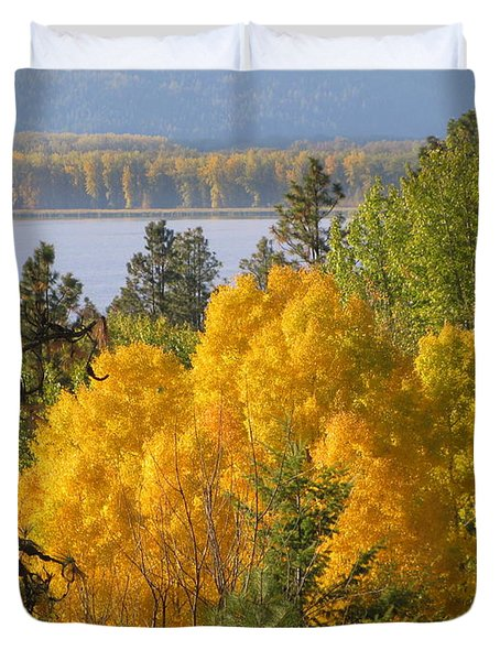 Blazing Yellow Duvet Cover by Leone Lund