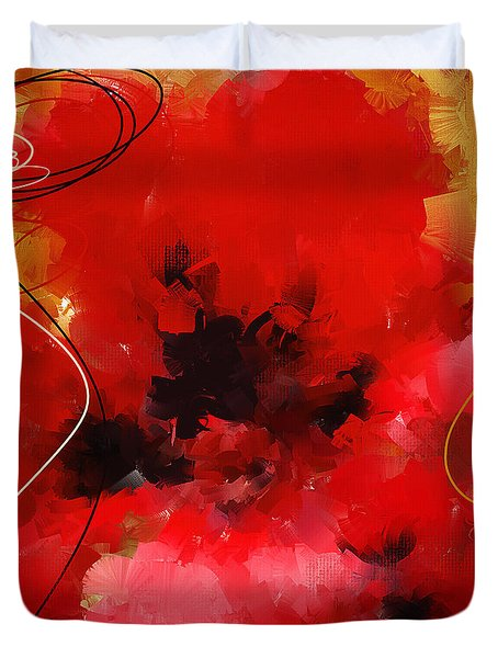 Blazingly Poppies Duvet Cover