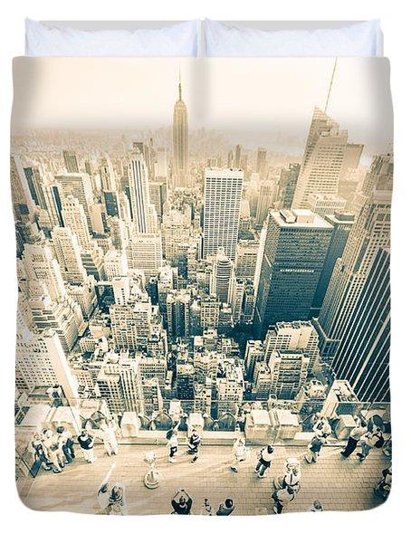 Bleached Manhattan Duvet Cover