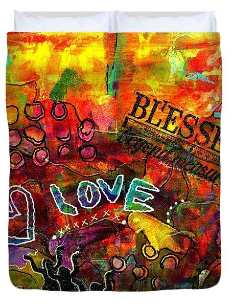 Blessed Beyond Measure Duvet Cover by Angela L Walker