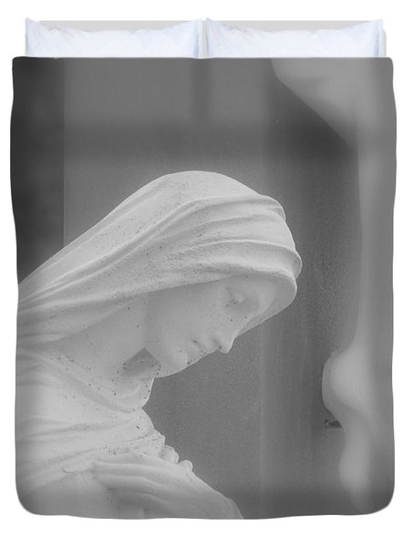 Blessed Mother Duvet Cover by Beth Vincent