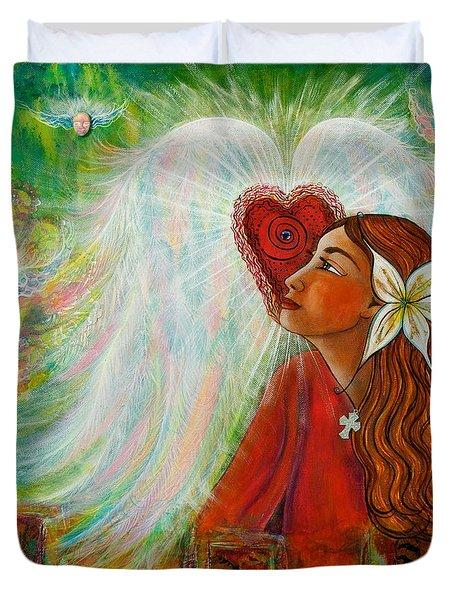 Blessed Visit  Duvet Cover by Deborha Kerr