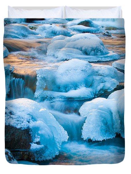 Blewett Pass Creek Duvet Cover by Inge Johnsson