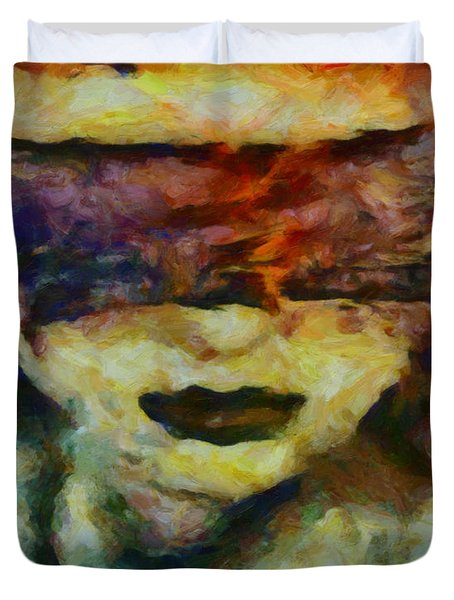 Duvet Cover featuring the digital art Blinded By Sorrow by Joe Misrasi
