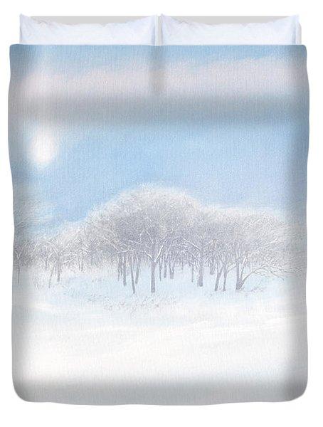 Blizzard Coming Duvet Cover