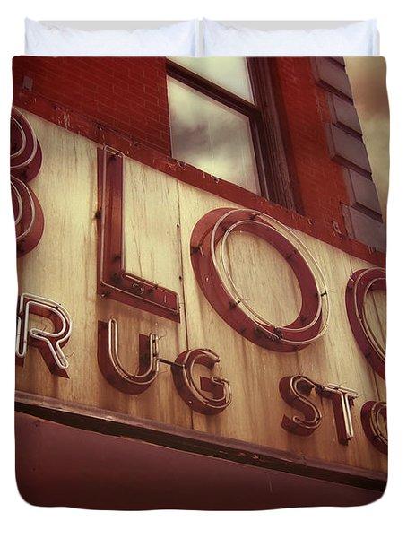 Block Drug Store - New York Duvet Cover