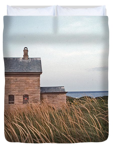 Block Island North West Lighthouse Duvet Cover