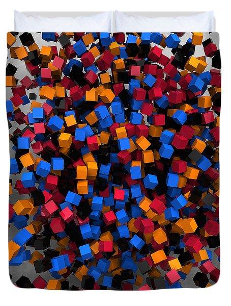 Block-splosion 1 Duvet Cover