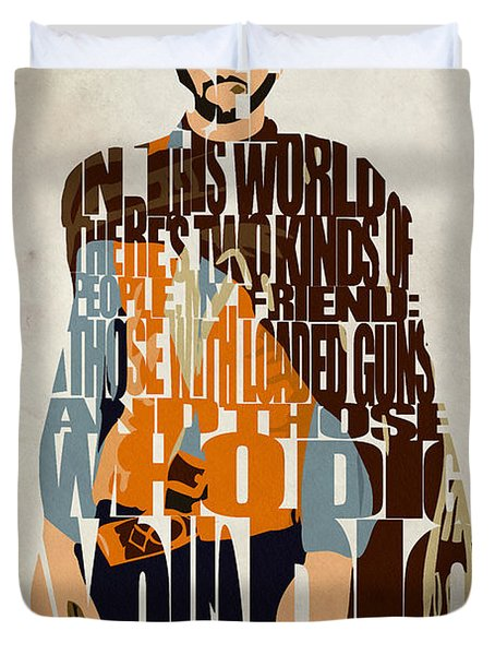 Blondie Poster From The Good The Bad And The Ugly Duvet Cover