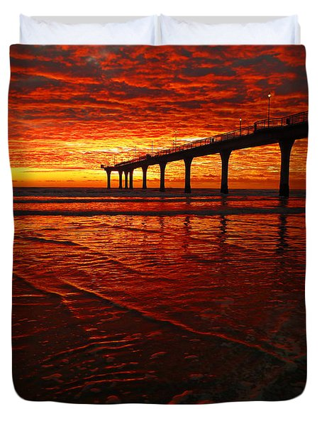 Blood Red Dawn Duvet Cover by Steve Taylor