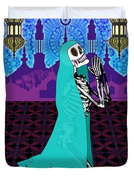 Bloody Islamic Mary Duvet Cover by Tammy Wetzel
