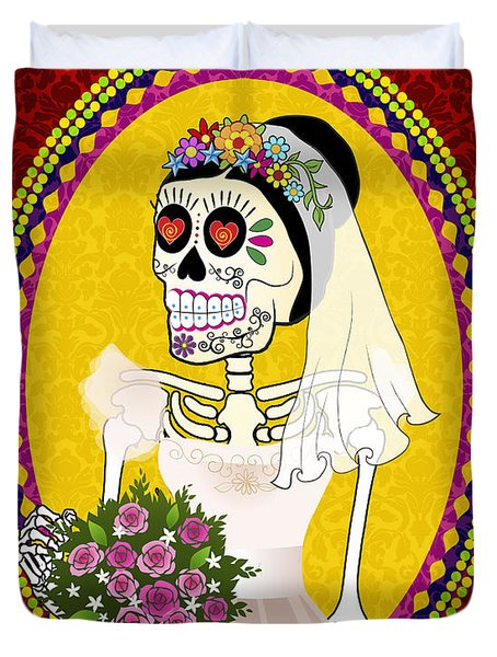 Bloody Married Duvet Cover by Tammy Wetzel