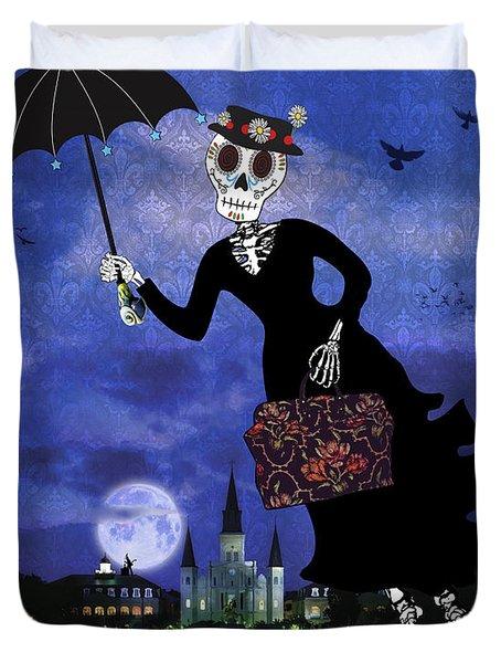 Bloody Mary Poppins Duvet Cover by Tammy Wetzel