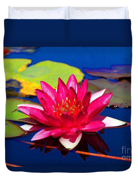Blooming Lily Duvet Cover