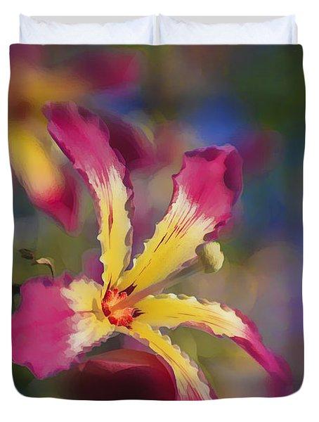 Bloomin Hong Kong Orchid Duvet Cover