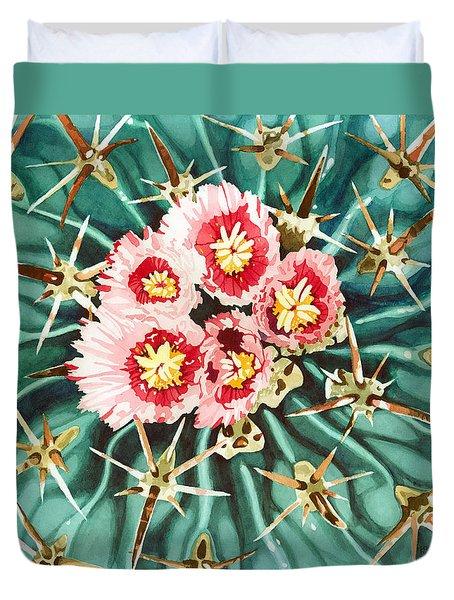 Bloomin' Horse Crippler Cactus Duvet Cover