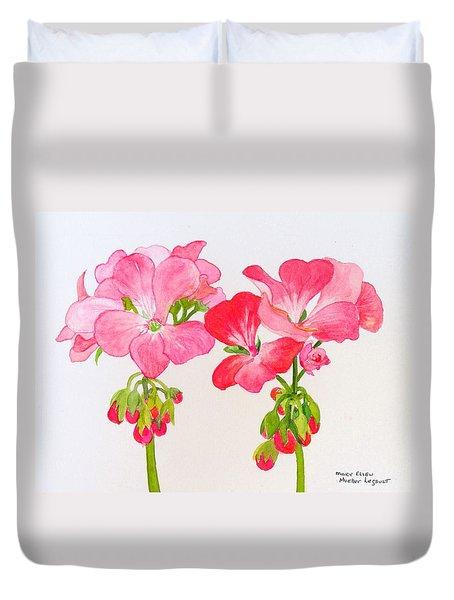 Blooming 1 Duvet Cover by Mary Ellen Mueller Legault
