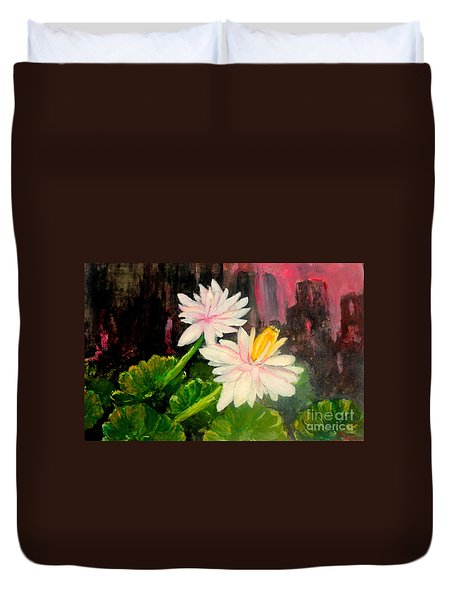 Blooming At Night  Duvet Cover