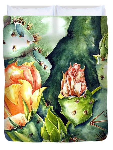 Blooming Cactus II Duvet Cover