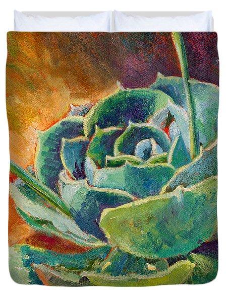 Blooming Hen Duvet Cover