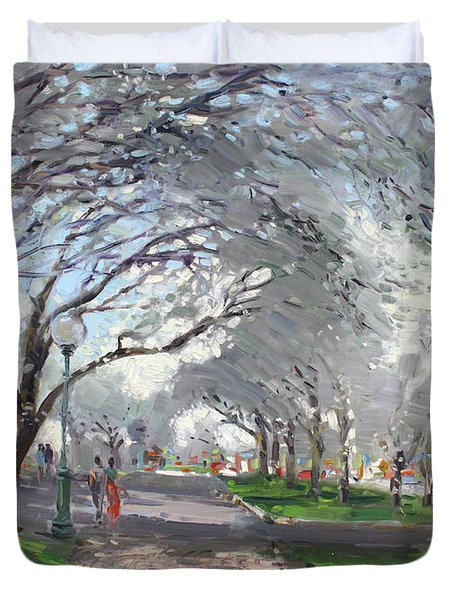 Blooming In Niagara Park Duvet Cover by Ylli Haruni