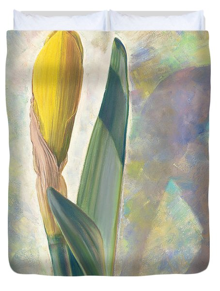 Blooming Iris Duvet Cover